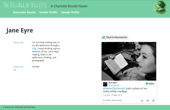 A fan community for Charlotte Bronte